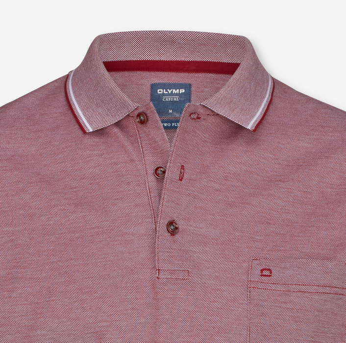OLYMP Casual Polo, modern fit, Dark Red
