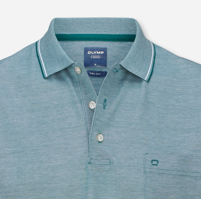 OLYMP Casual Polo, modern fit, Crystal Green