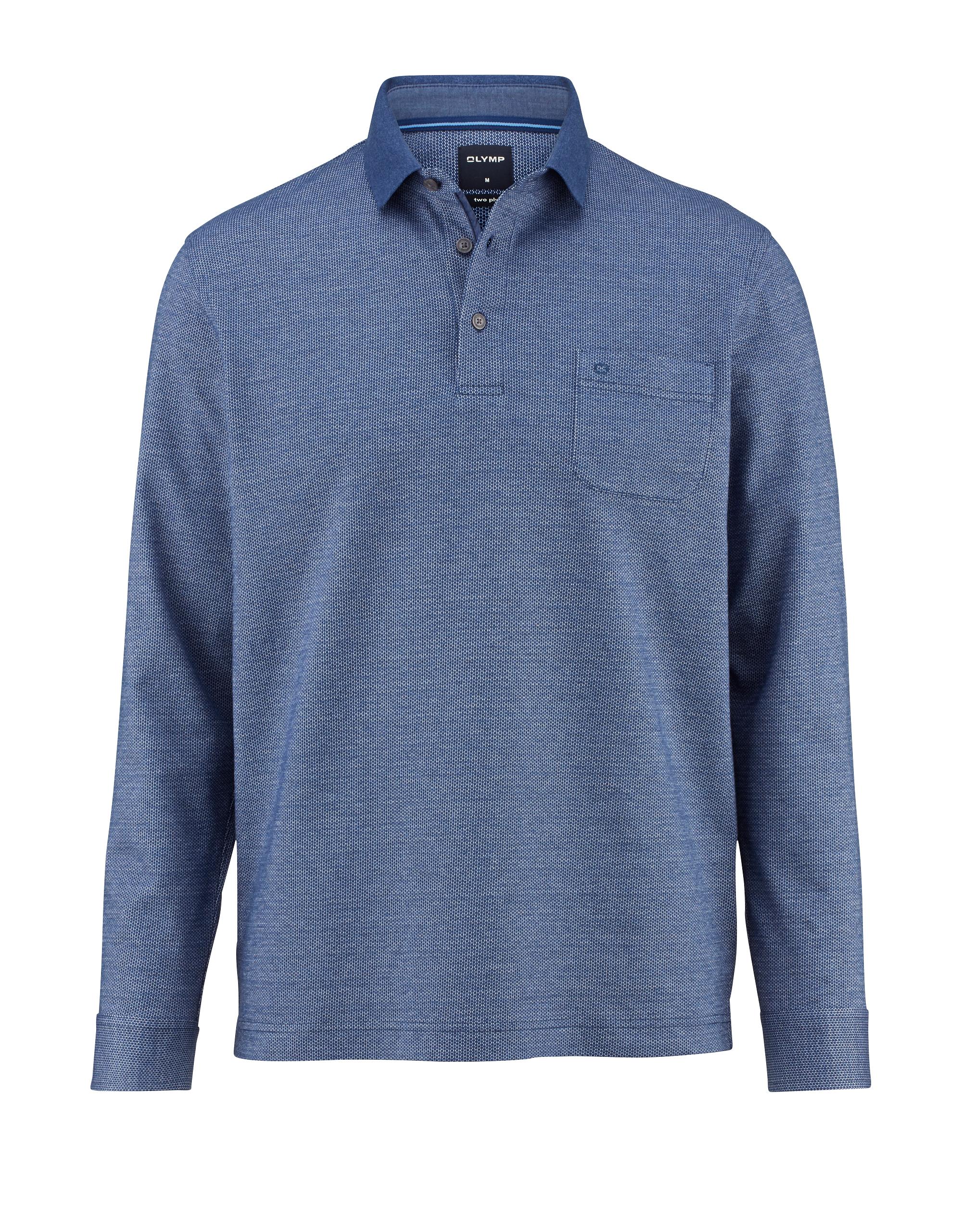 OLYMP Polo Pullover, modern fit, Blau, 3XL   Bekleidung > Pullover > Sonstige Pullover   Blau   100% baumwolle   OLYMP Polo