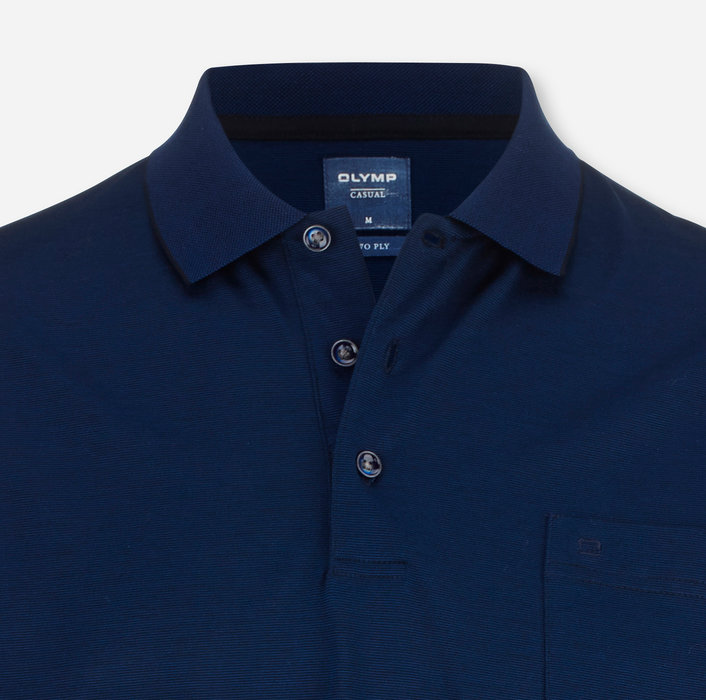 OLYMP Casual Polo, modern fit, Nachtblau