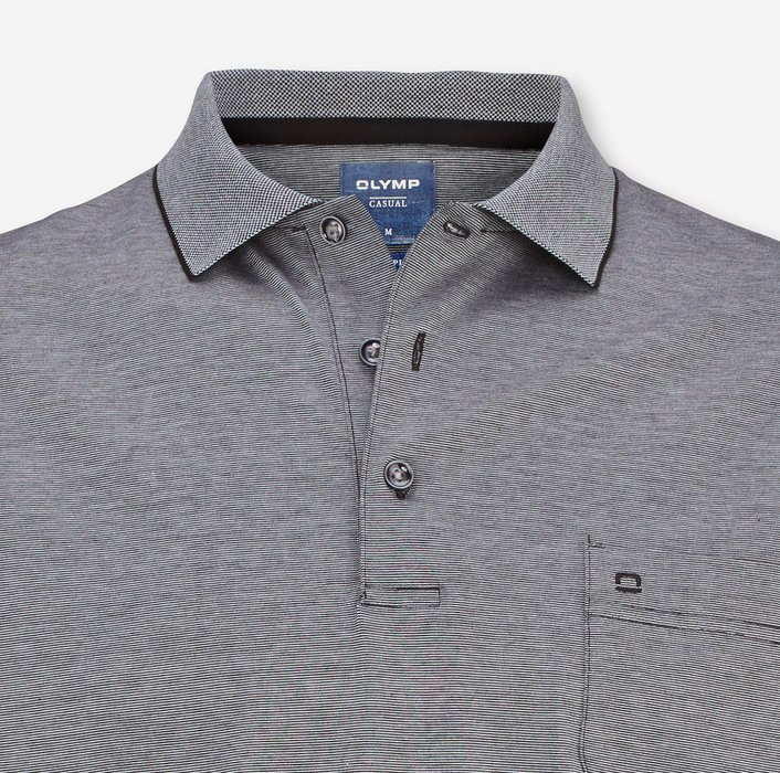 OLYMP Casual Polo, modern fit, Noir