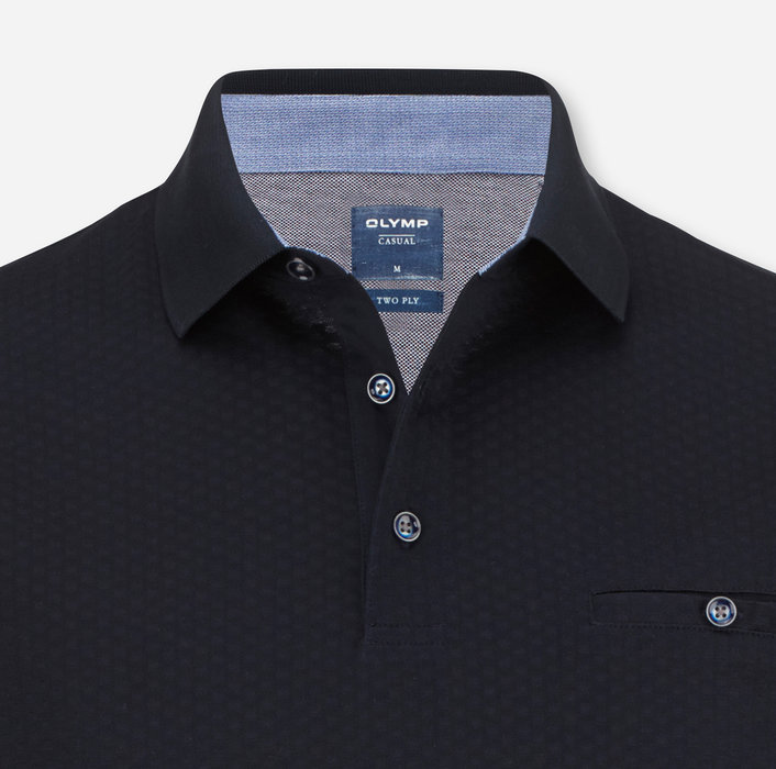 OLYMP Casual Polo, modern fit, Bleu Nuit