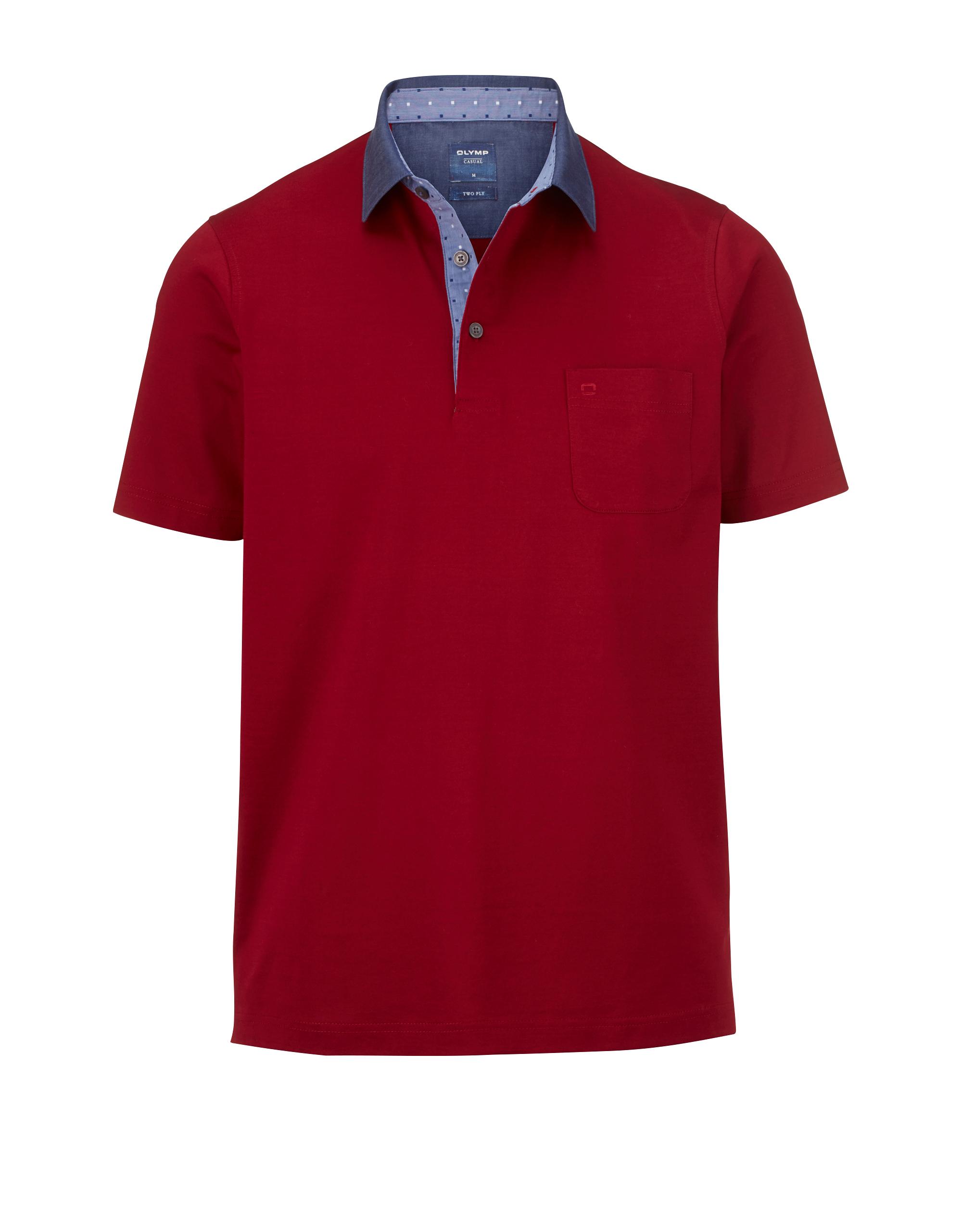 OLYMP Polo-shirt, modern fit, Dunkelrot, L | Bekleidung > Polo Shirts > Kurzarm | Dunkelrot | 100% baumwolle | OLYMP Polo
