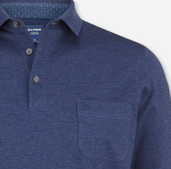 OLYMP Casual Polo, modern fit, Marine