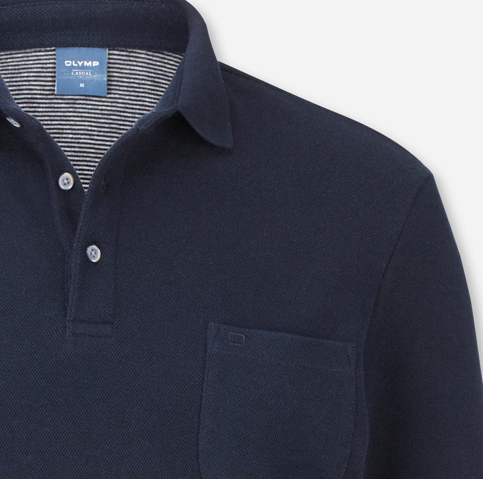 OLYMP Casual Polo, modern fit, Midnight Blue