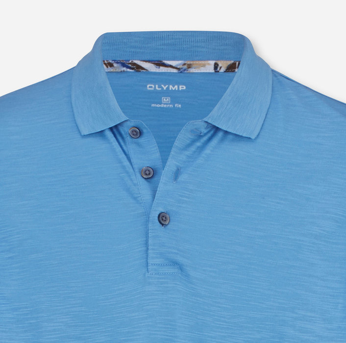 OLYMP Casual Polo, modern fit, Blau