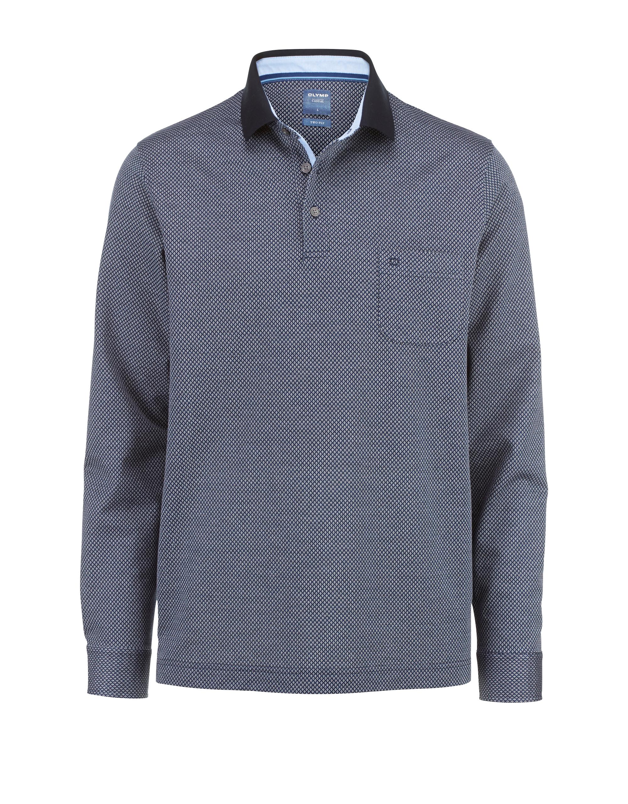 OLYMP Casual Polo-shirt, modern fit, Nürnberger Blau, XXL | Bekleidung > Polo Shirts > Kurzarm | Blau | Baumwolle | OLYMP