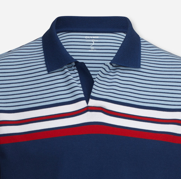 OLYMP Level Five Casual Polo, body fit, Marine