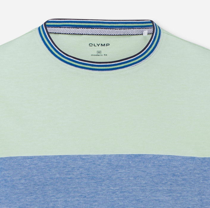 OLYMP Casual T-Shirt, modern fit, Blauw