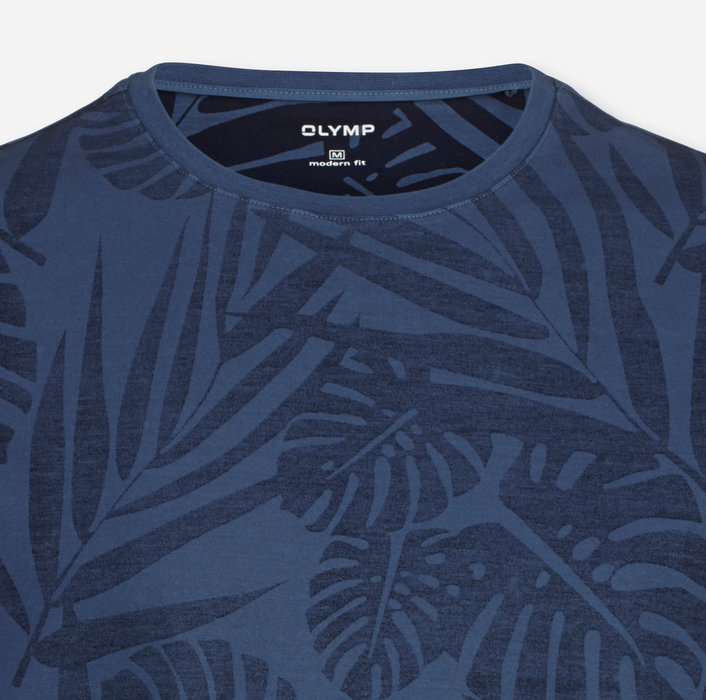 OLYMP Casual T-Shirt, modern fit, Marine