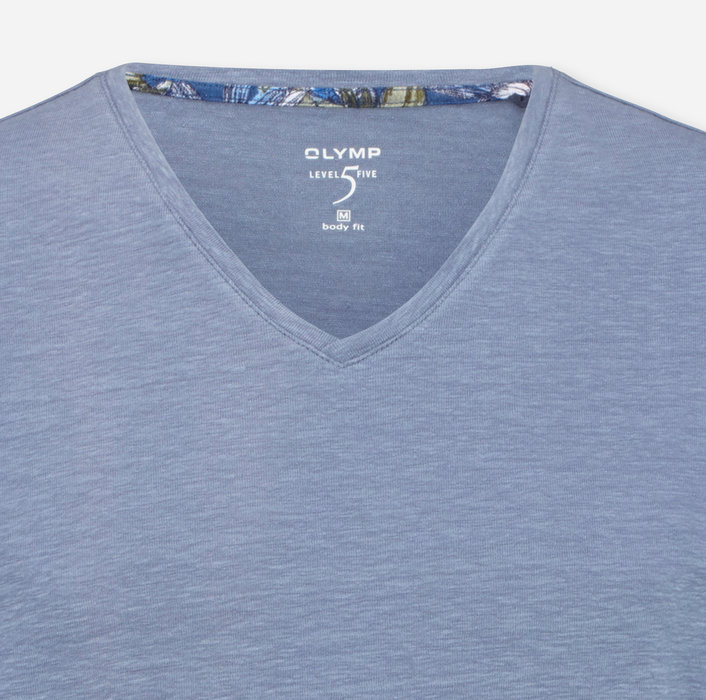 OLYMP  Level Five Casual T-Shirt, body fit, Light Blue