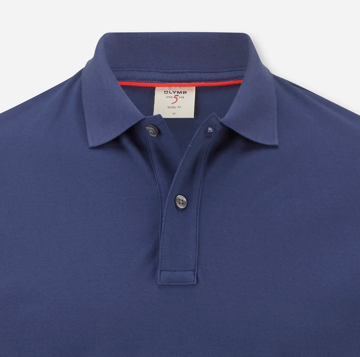 OLYMP Level Five Casual Polo, body fit, Indigo