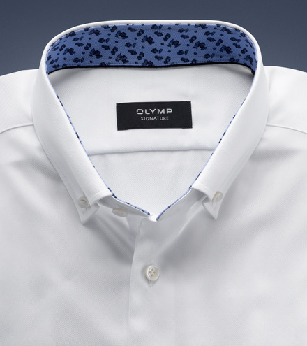 OLYMP SIGNATURE tailored fit Langarm SIGNATURE Button-down
