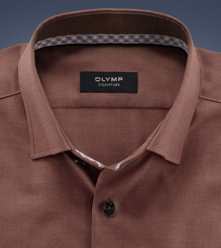 OLYMP SIGNATURE tailored fit Long sleeve SIGNATURE Under-Button-Down