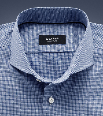 OLYMP SIGNATURE tailored fit Langarm SIGNATURE Haifisch