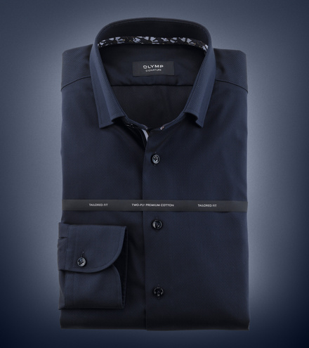 OLYMP SIGNATURE tailored fit Langarm SIGNATURE Under-Button-down