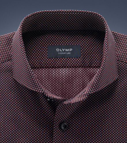 OLYMP SIGNATURE tailored fit Long sleeve SIGNATURE Cutaway