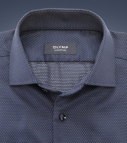 OLYMP SIGNATURE tailored fit Langarm SIGNATURE Kent
