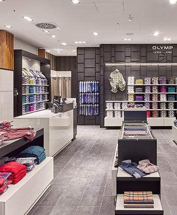 Repliken schnell verkaufend zarte Farben OLYMP eröffnet Store in ECE-Center Sophienhof